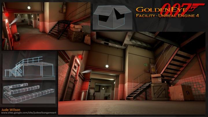 N64版『ゴールデンアイ 007』のマップ、19年の時を経てUnreal engine 4で復活