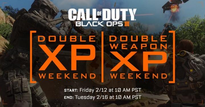 CoD:BO3:ダブルXPと武器ダブルXP同時開催、2月13日深夜3時より