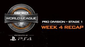 CoD:BO3:CWLステージ1 第4週のリキャップ動画と全試合の動画。初となるチャレンジ部門も