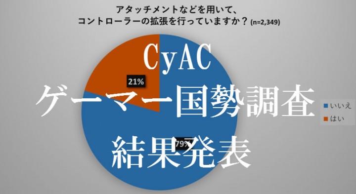 CyAC「ゲーマー国勢調査」の 集計結果発表、国内ゲーマーの生々しい生態が明らかに