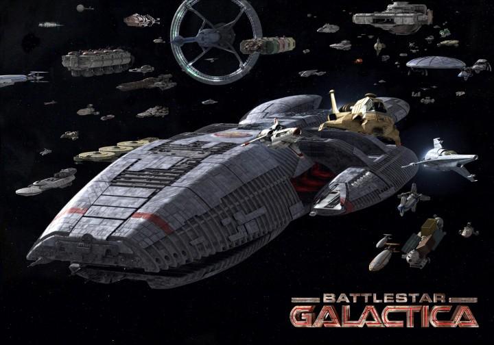 全長2000mの超巨大宇宙船「ギャラクティカ」