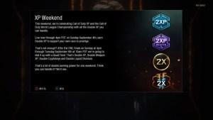 CoD:BO3:ダブルXP・ダブル武器XP・ダブル暗号キー・ダブルディビニウムが一挙開催、9月6日まで