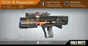 CoD:IW:アサルトライフル「NV4」、スナイパーライフル「EBR-800」、ショットガン「DCM-8 Masochist」の詳細