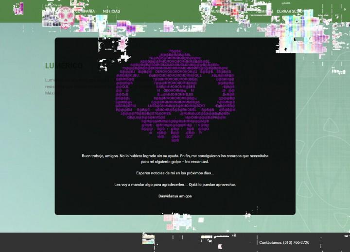 ハッキングされたウェブサイト