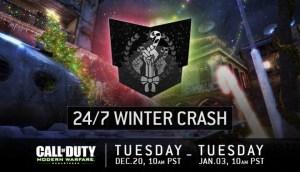 CoD:MWR:冬仕様のCrashマッププレイリスト開催、サプライドロップやCODポイントも追加