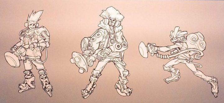 オーバーウォッチ: メイは痩せ型の賞金稼ぎだった。ヒーローたちの初期コンセプトアート