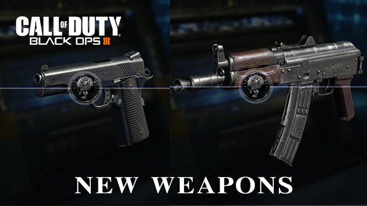 "CoD:BO3: 新武器「AK74u」と「M1911」追加、動く限定迷彩""Into the Void""も"