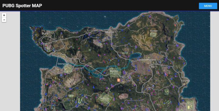 PUBG: 乗り物の位置やマップ距離、建物の詳細などを確認できるマップサービス「PUBG Spotter MAP」