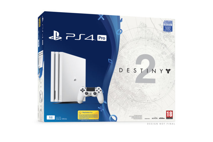 Destiny 2: PS4 Proの新色「グレイシャーホワイト」発表、ソフトとセットの同梱版が9月6日に北米と欧州で限定発売