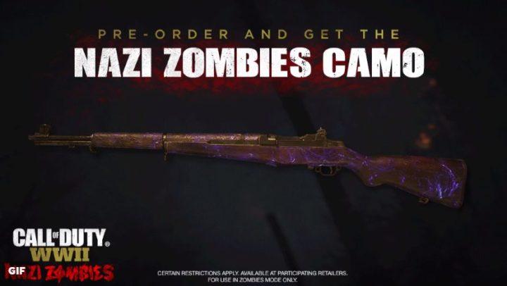 CoD:WWII:アニメーション武器迷彩はゾンビモードでのみ登場、ルートアイテムも「外観変更」のみ