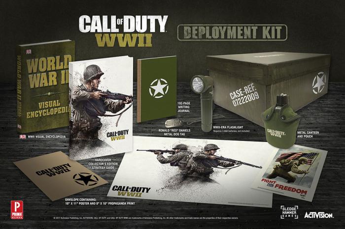 CoD:WWII:プレミアムな「Deployment Kit  Edition」詳細、懐中電灯や水筒、第二次世界大戦百科事典などを同梱