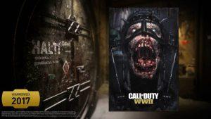 CoD:WWII: ホラーでグロテスクなゾンビポスターのプレゼントキャンペーンが開催