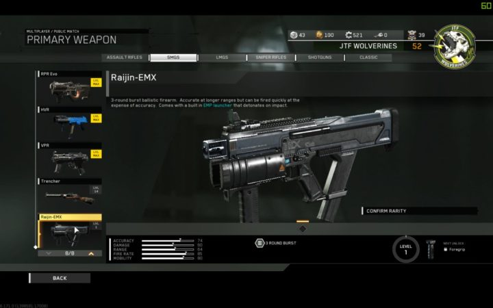 CoD:IW:2種の新武器追加、EMPランチャー付きSMG「Raijin-EMX」とスモークドローンを発射するLMG「Atlas」