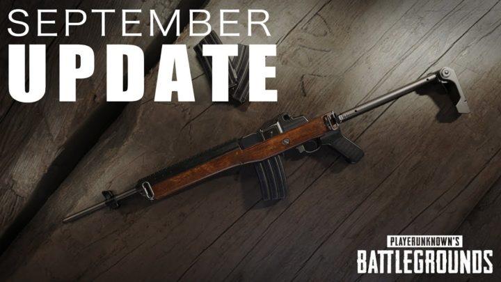 PUBG: 9月のアップデート配信、新武器「Mini-14」や新天候「霧」の追加、グレネードや武器の調整など