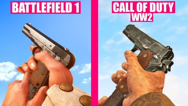 CoD:WWII vs BF 1 :6分にわたる「銃声」の比較映像が公開