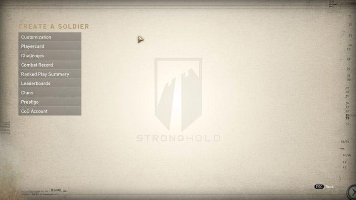 CoD:WWII:ジャンプなし版の「アップリンク」、「グリッドアイアン