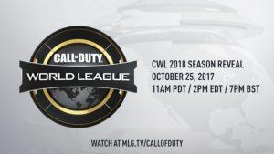 CoD:WWII: 公式リーグ「Call of Duty World League 2018」の詳細が10月26日早朝に発表