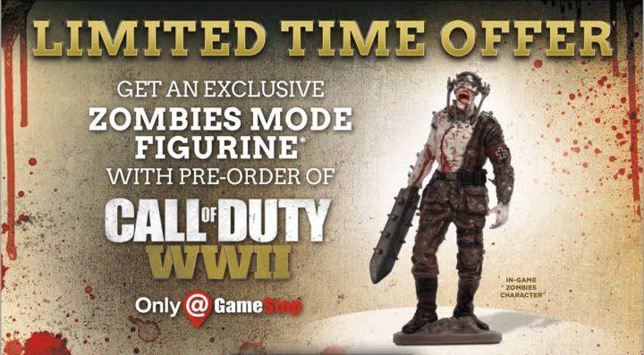 CoD:WWII: ゾンビフィギュアや限定グッズなどの豪華予約特典発表(海外小売)