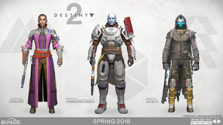 Destiny 2: Mcfarlane製フィギュア第2弾発表、今度はザヴァラ・イコラ・ケイドのバンガード三人衆