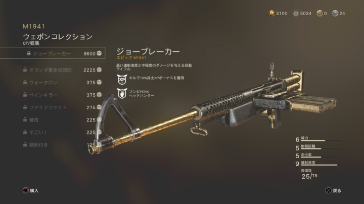 CODWWII-Weapon-collection