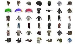 PUBG: 色付きパラシュートを含む45種のスキンが大量発掘