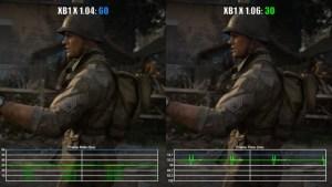 CoD:WWII:Xbox One Xにてフレームレートが30fpsまで落ち込む現象発生中(比較動画あり)