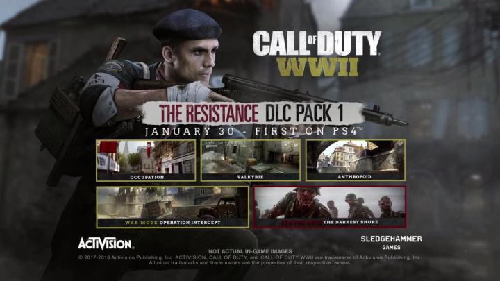 CoD:WWII: 第1弾DLC「The Resistance(レジスタンス)」公式トレーラー公開、PS4へ1月30日配信