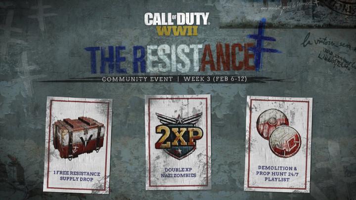 CoD:WWII: イベント「レジスタンス」3週目詳細、新モード「DEMOLITION」追加やゾンビダブルXPなど(2月12日まで)