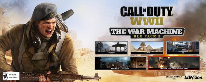 CoD:WWII:DLCパック2「軍事機構編」発表、4月10日にPS4へ先行配信