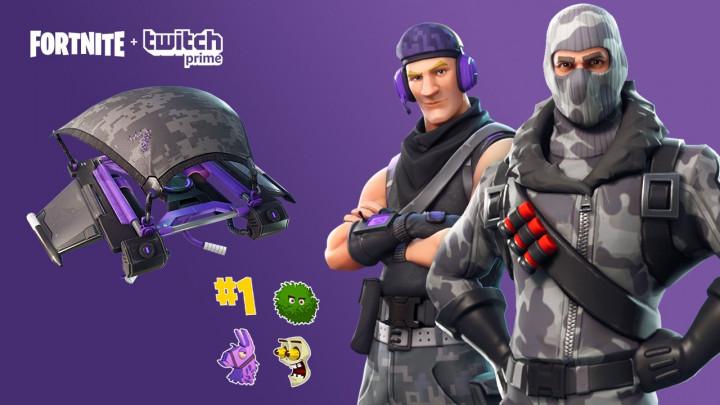 フォートナイト: Twitch Prime会員向け特典配布、8種の限定スキンやグライダーなど