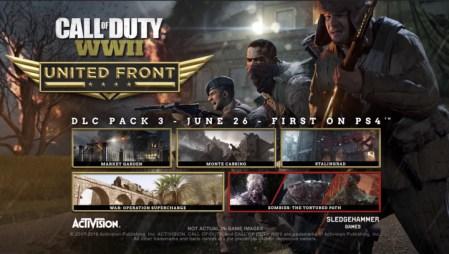 CoD:WWII:第3弾DLC「United Front」公式トレーラー公開、6月26日にPS4へ先行配信