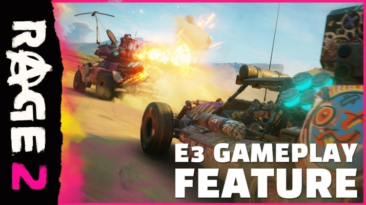 RAGE 2:E3ゲームプレイ映像公開、アンドリューW.K.が祭りと聞いて我慢できずに乱入