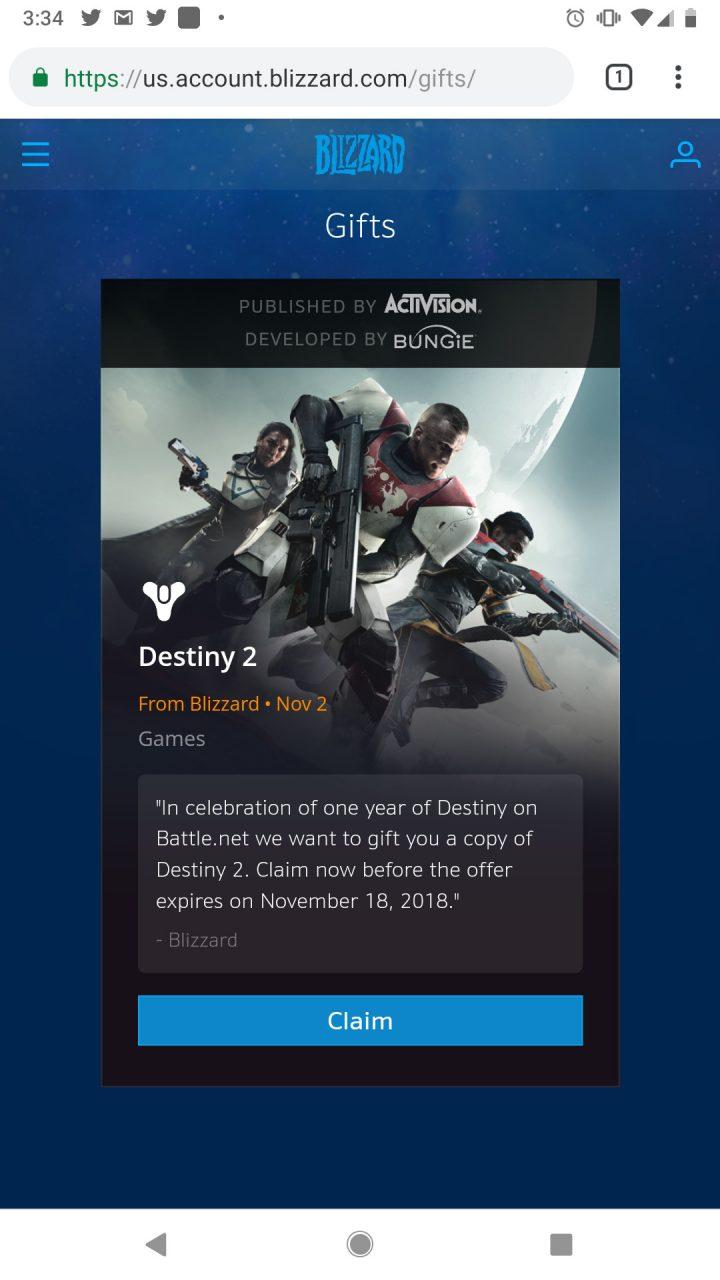Destiny 2:PC版本編の「無料ダウンロード」開始! 11月19日まで *追記: スマホだけでも入手可能