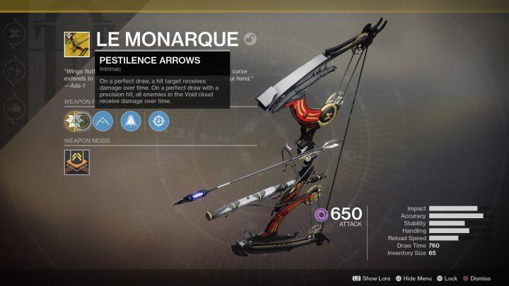 Destiny 2:前作の「トルン」を連想させる効果のエキゾチック弓「ル・モナーク」の入手条件をBungieが明言