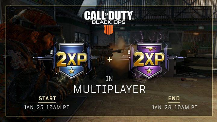 CoD:BO4:マルチプレイヤーのダブルXP & 武器ダブルXP開催、1月26日から