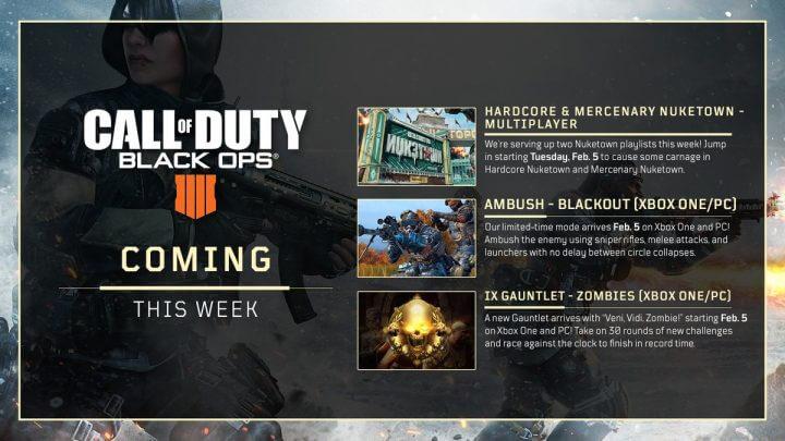 CoD:BO4: 今週のスケジュール発表、「Nuketown」のプレイリストとXbox One/PCに怒涛のコンテンツ追加