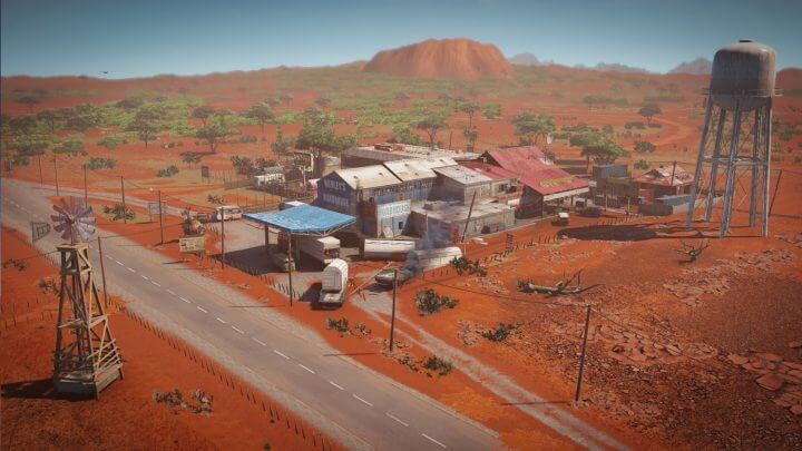砂塵渦巻くオーストラリア奥地のサービスステーションである「アウトバック」が新マップ