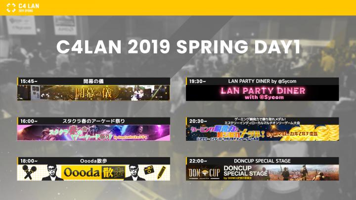 C4 LAN 1日目