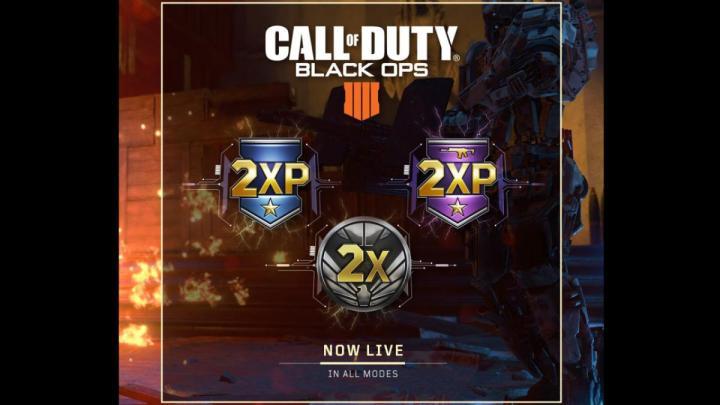CoD:BO4:ダブルXP / 武器ダブルXP / ダブル戦功 & ティアとNP半額開始、7月23日まで(全機種)