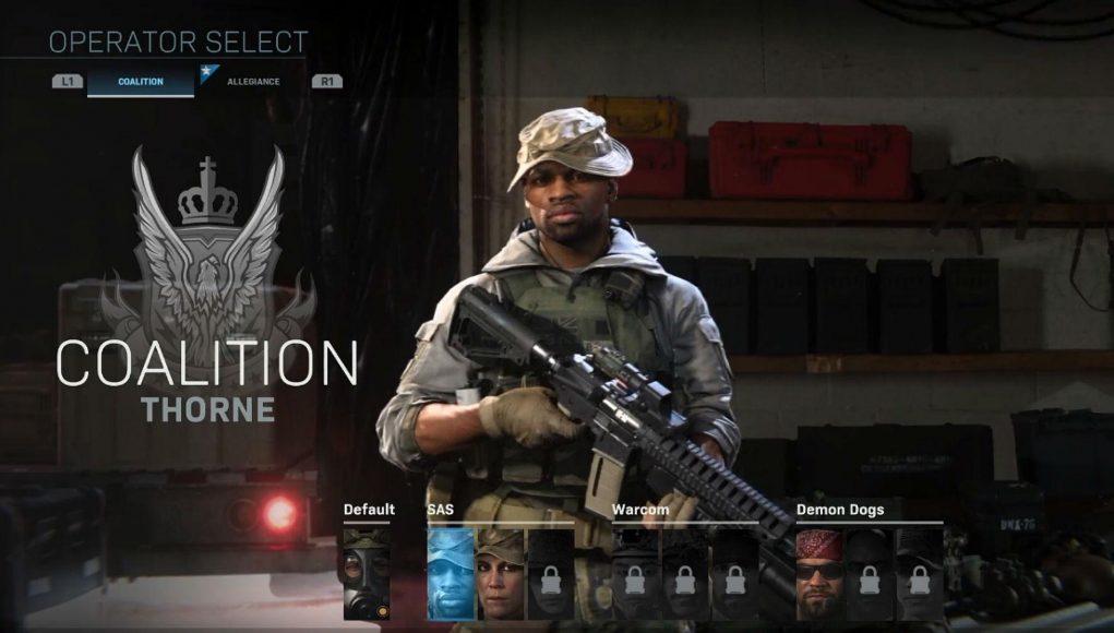 『Call of Duty:Modern Warfare』メニュー画面