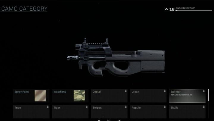 CoD:MW: ローンチ時点で各武器には103種類の迷彩が存在、ゴールド・プラチナ・ダマスカス迷彩も登場