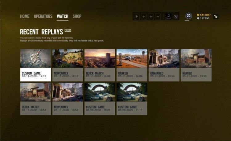 レインボーシックス シージ:マッチリプレイ機能の新情報公開、10試合自動録画や公式試合もダウンロード可能に?