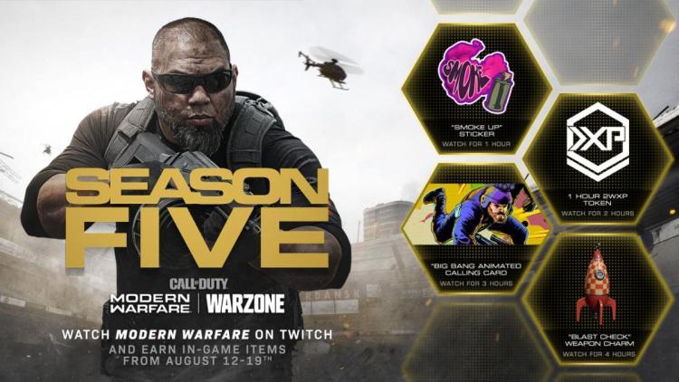 CoD:MW:武器チャームなど4種のアイテムがもらえるTwitch視聴キャンペーン開始