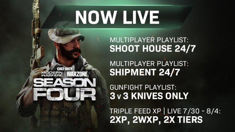 CoD:MW: ダブルXP / ダブル武器XP / ダブルティア開催中、シーズン5開始までのラストチャンス