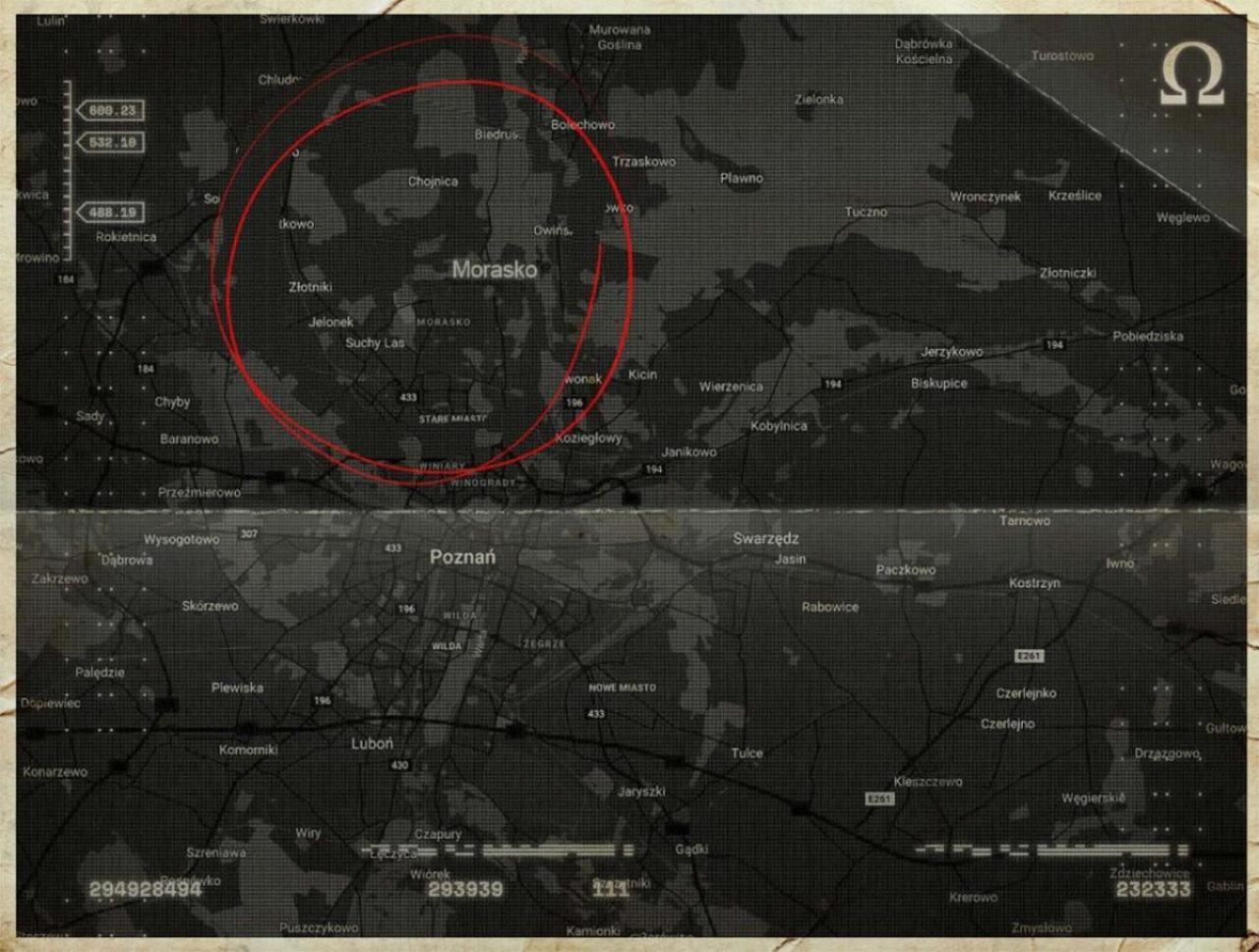 ティザーサイトで見つかった地図。ポーランドのモラスコ村を指している