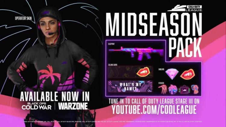 CoD:BOCW:「Call of Duty League – ミッドシーズンパック」販売開始、ネオンが眩しいカーラのスキンなど同梱