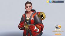 オーバーウォッチ:OWLスキン「MM-メイ」販売開始、眼鏡を外したコーンロウの格闘家メイ