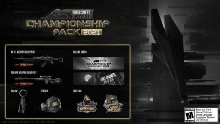 CoD:BOCW:「Call of Duty League – Champs 2021パック」販売開始、高級感あるAK-47武器設計図など同梱
