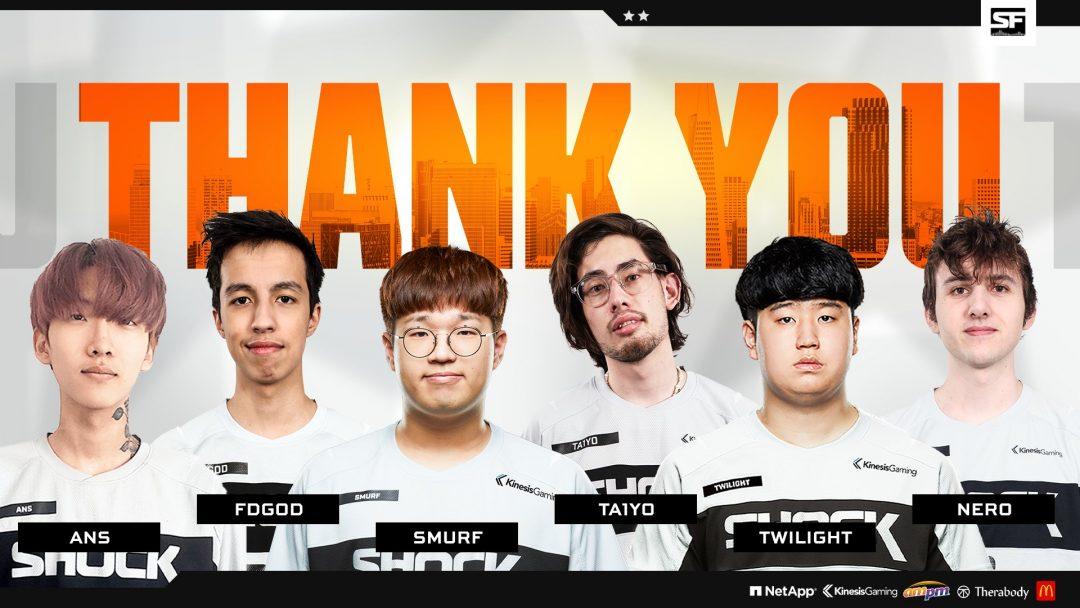 """オーバーウォッチリーグ:「San Francisco Shock」が日本人オーバーウォッチリーガー""""Ta1yo""""選手を含む選手6名の退団を発表"""