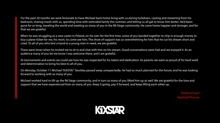 """『レインボーシックス シージ』の名キャスター""""KiXSTaR""""さん死去 24歳   シージ競技シーン最初期より活躍"""